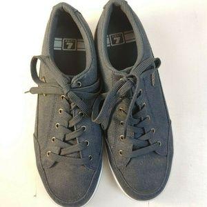 Lugz Blue Lace up Casual Canvas Sneakers Mens Shoe